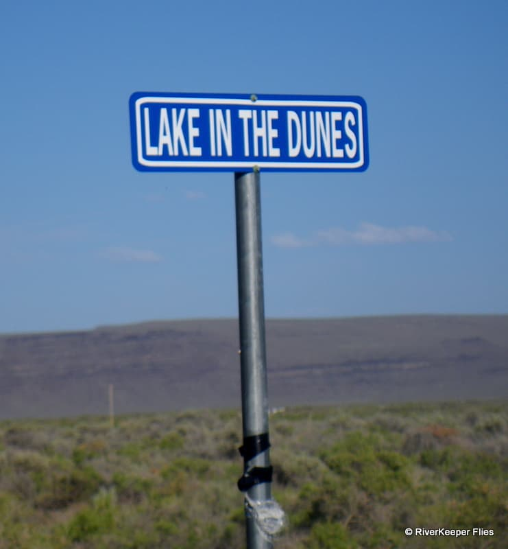 Lake in the Dunes Sign