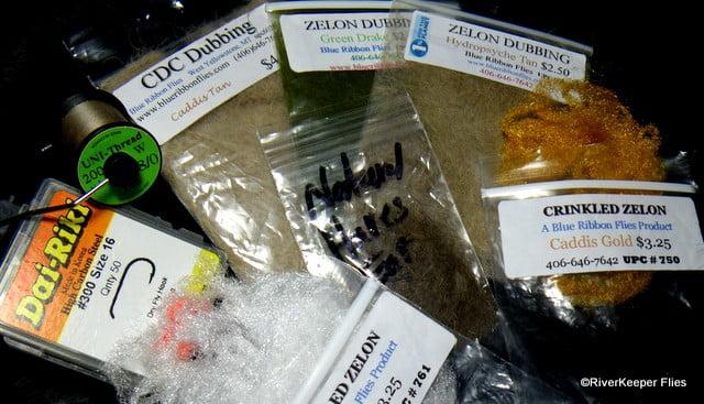 Iris Caddis Materials   www.johnkreft.com