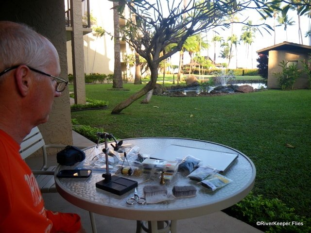 Tying Flies in Maui | www.johnkreft.com