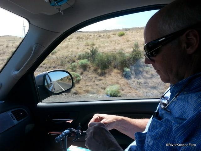 Tying on the Road | www.johnkreft.com