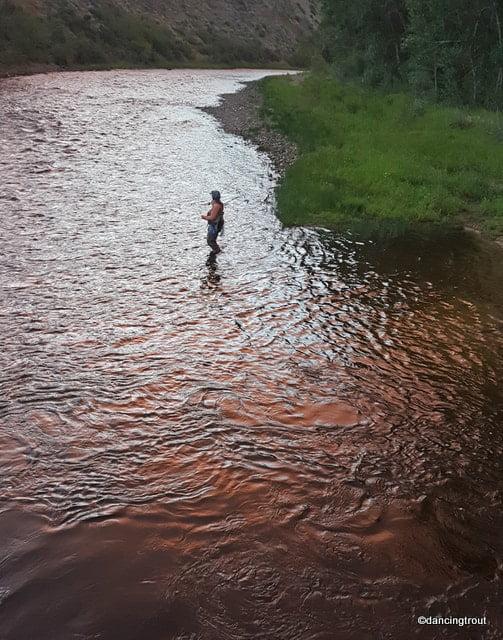 Fishing at Dusk on the Big Hole River, MT | www.johnkreft.com