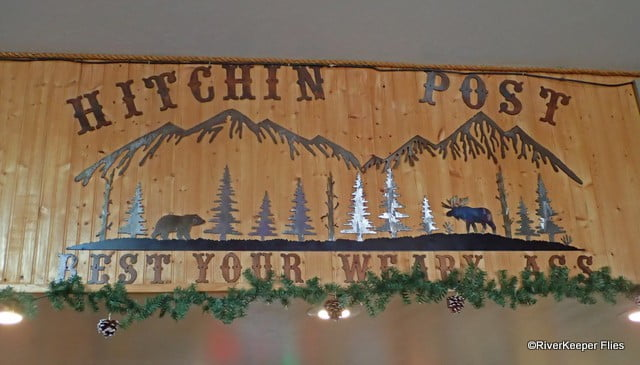 Hitchin Post Sign in Melrose, MT | www.johnkreft.com