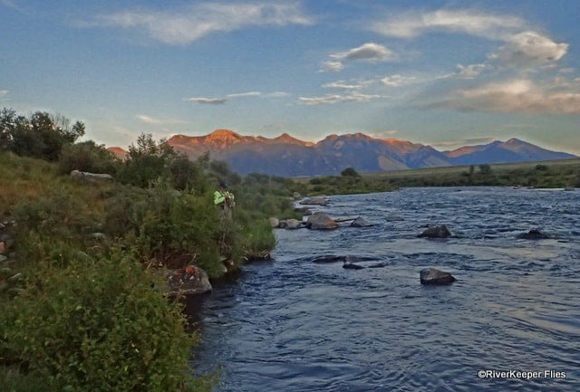 Looking Upstream from $3 Bridge on Madison River at Sunset | www.johnkreft.com