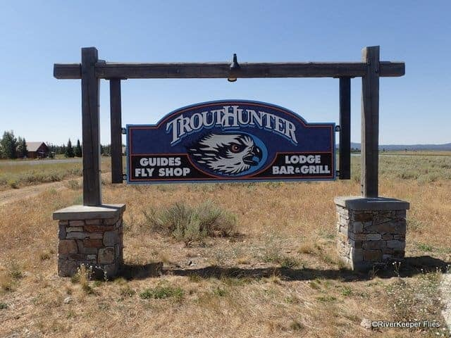 Trouthunter Fly Shop Sign - Island Park, ID