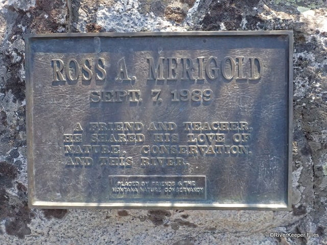 Ross Merigold Sign on Madison River at Reynolds Pass Bridge | www.johnkreft.com