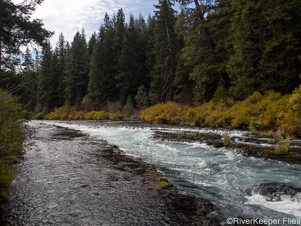 Metolius River Fall Colors at Wizard Falls   www.johnkreft.com