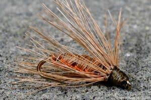 Frank Johnson Woven-Hair-Hackle Flies